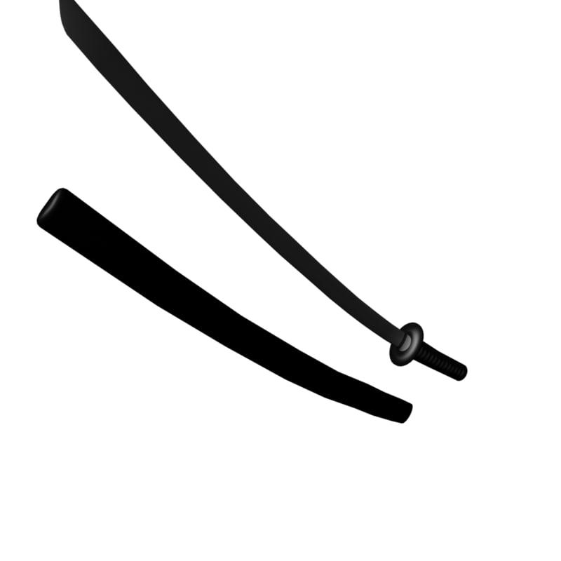 katana sword obj