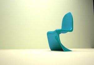 3d verner panton chair model
