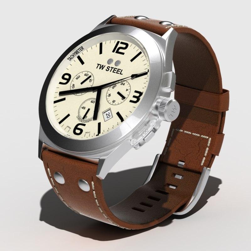 tw steel watch 3d max