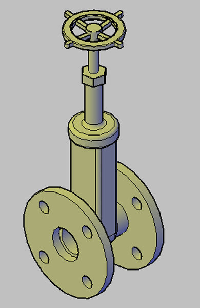 free dwg mode gate valve