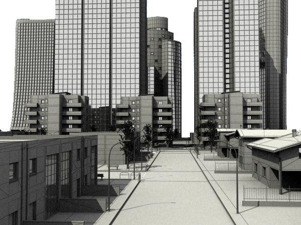 3d - city scene