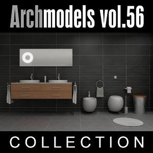 archmodels vol 56 bathroom sinks 3d max