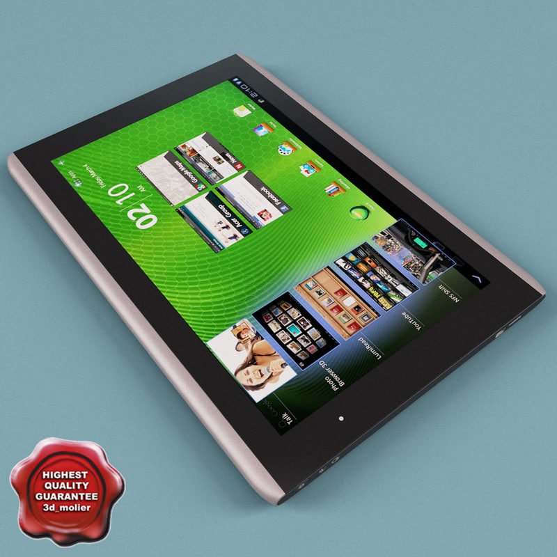 acer iconia tab a500 3d model