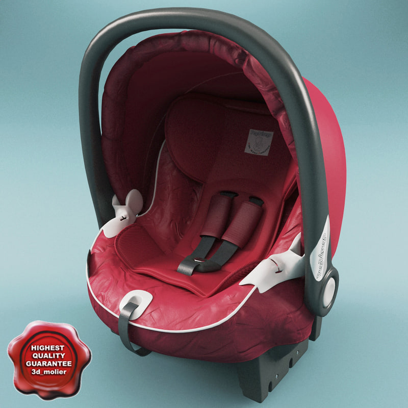 3d model infant car seat peg