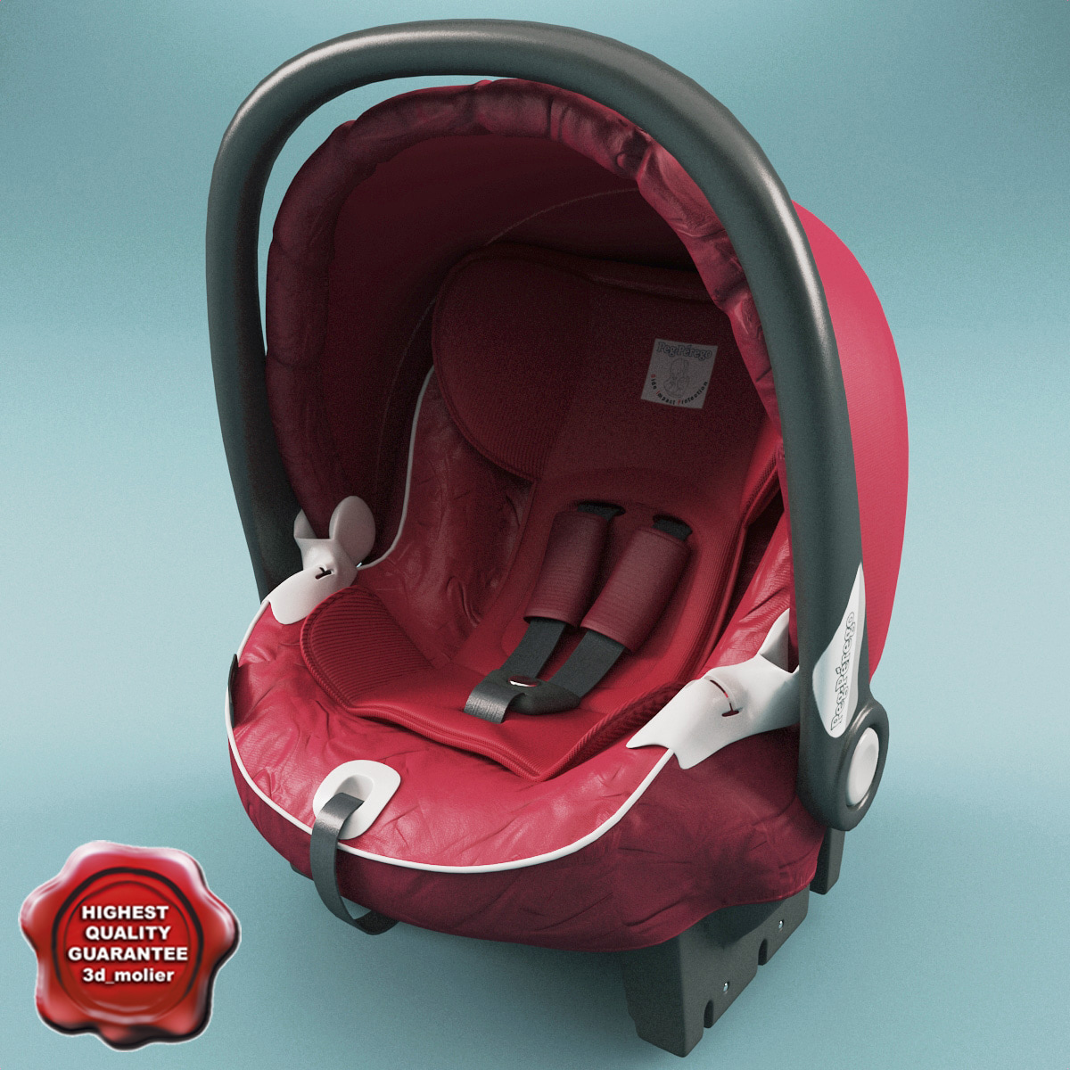 3d model infant car seat peg
