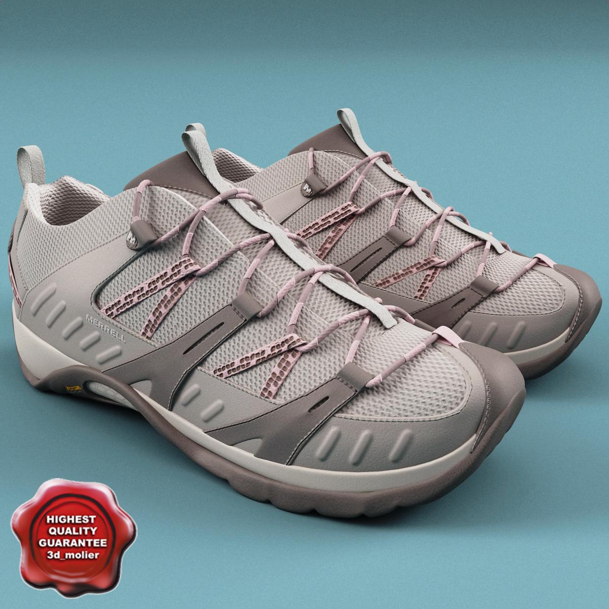 3d mens shoes merrell model