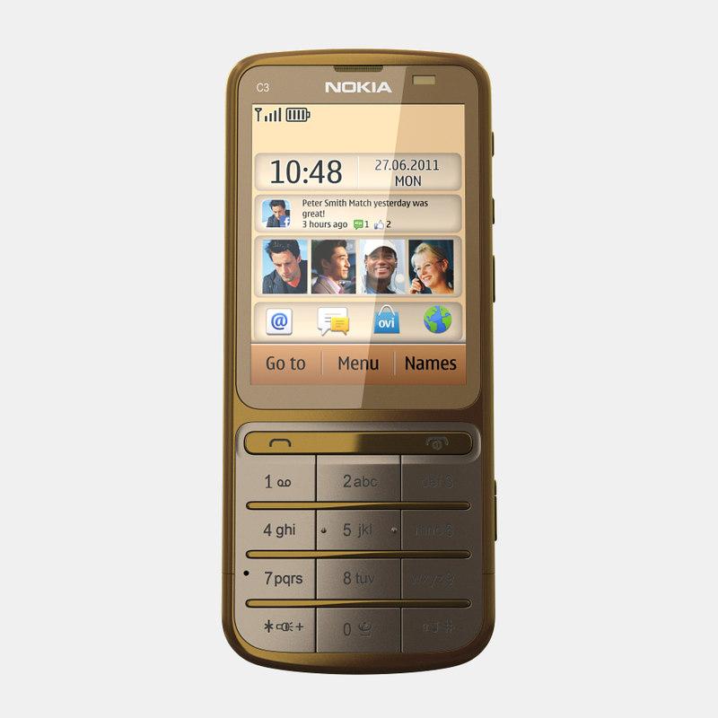 nokia c3-01 gold edition 3d max