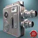 Old Movie Camera Silver Rare Meopta