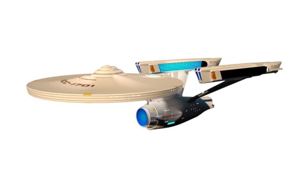3d model uss enterprise 1701