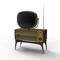 3dsmax vintage television predicta