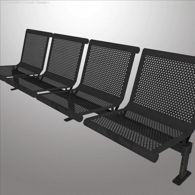 3d waiting room chair