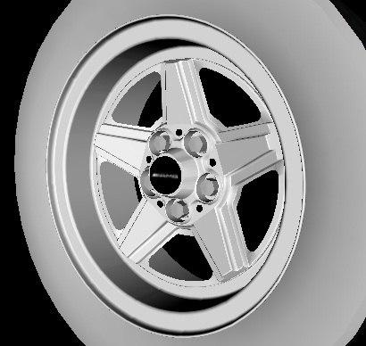 wheel amg 3d 3ds