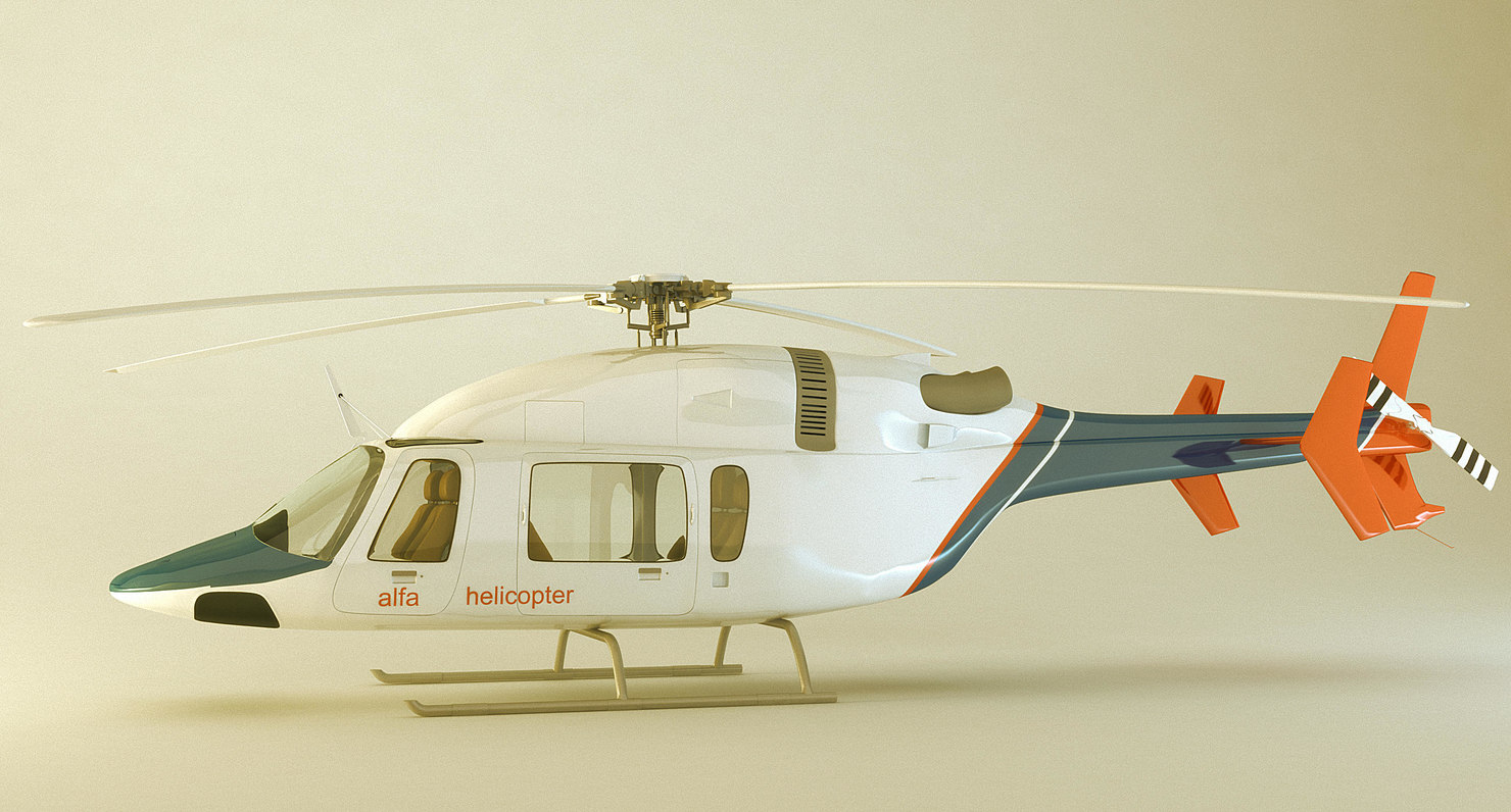 3d model accurate helicopter bell 427