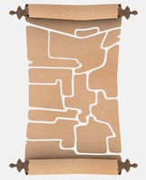 3d model of broken scroll