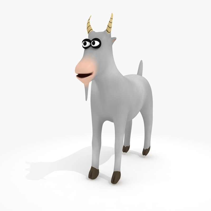 3d model cartoon goat rig