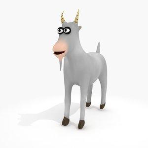 3d model cartoon goat rig