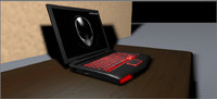 3d model alienware laptop