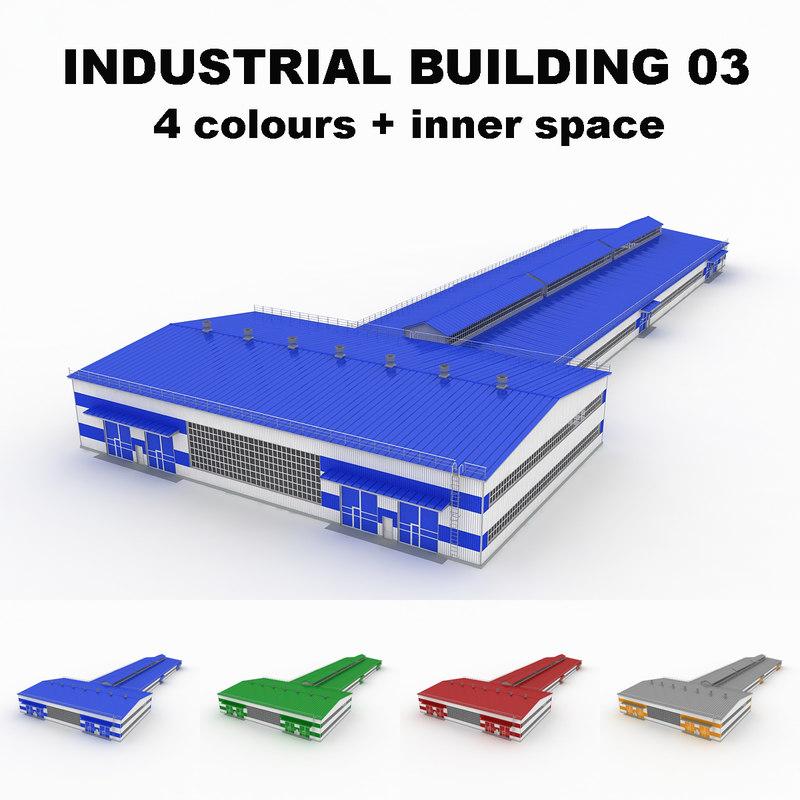 large industrial building 03 3d model