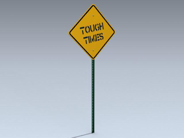 3d model road sign tough