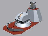 a-190 gun mount 3d model