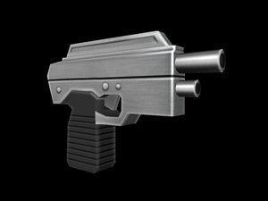 futuristic handgun 3d model