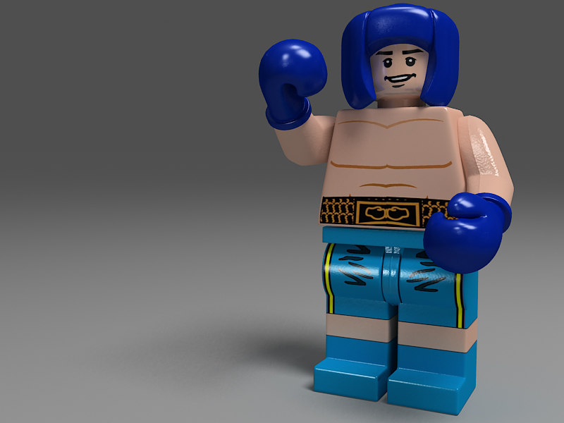 lego boxing gloves toys 3d max