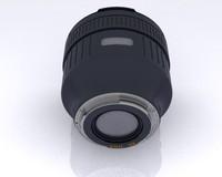 85mm telephoto lens 3d model