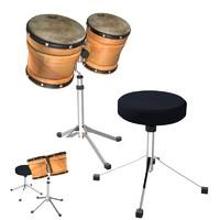 bongos 3d model