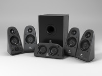 3d model of logitech surround speakers z