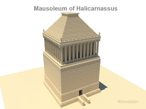 3d model mausoleum halicarnassus