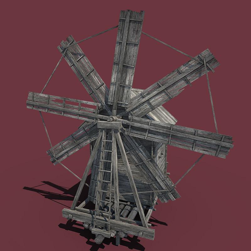 windmill industrial 3d max
