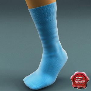 socks v3 3d model