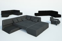 free obj model modern sofa chair
