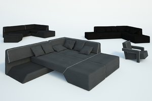 free obj model modern sofa chair