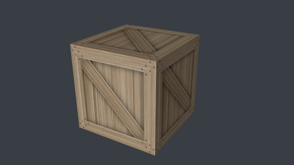 3ds max simple wooden crate