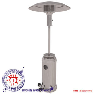3d patio heater model