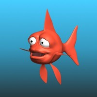 cartoon goldfish rig 3d max