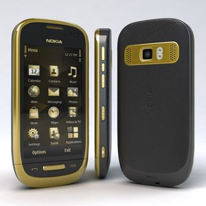 3d nokia oro black model