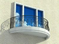 balcony balcon 3d model