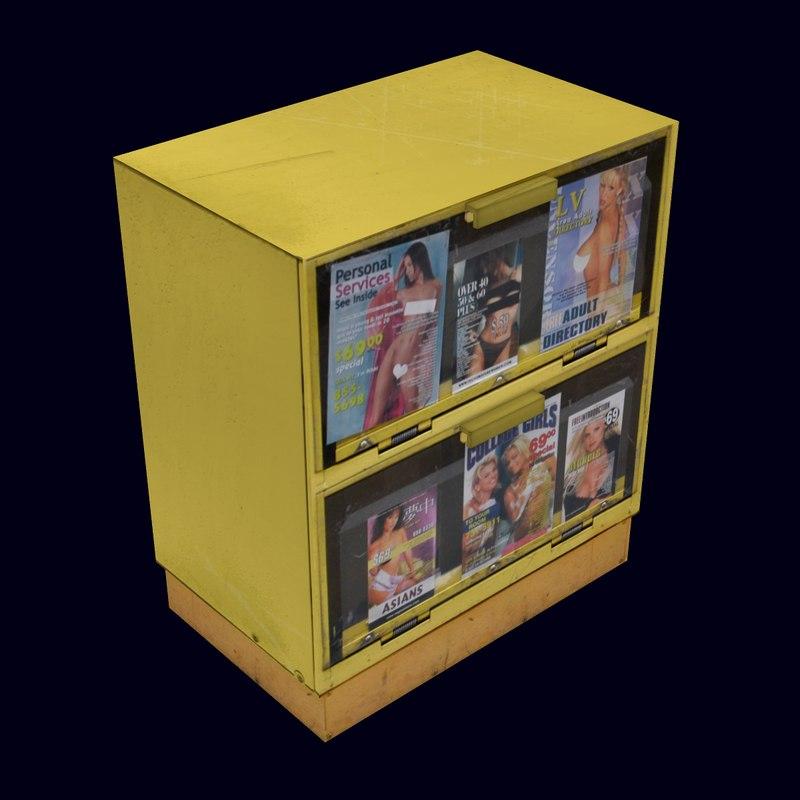 adult newspaper machine 3d model