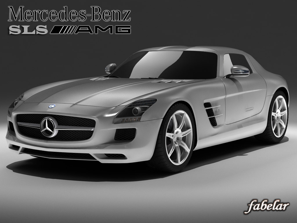 3d mercedes sls amg model