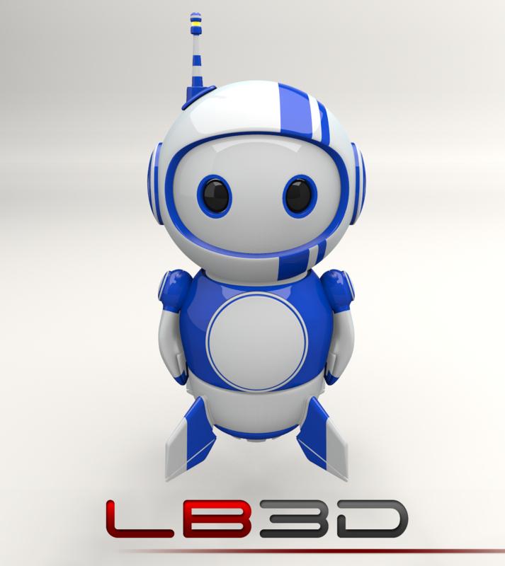 3d blueberry bot legacy series model
