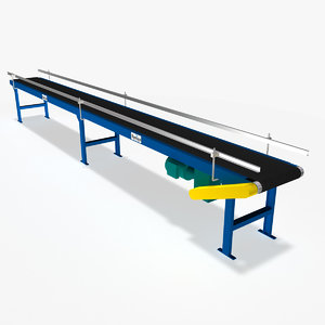 3ds max slider bed belt conveyor