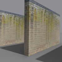 stained brick wall coz110426934 3d model