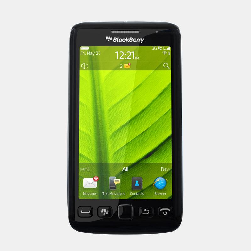 3d model of blackberry torch 9850 9860