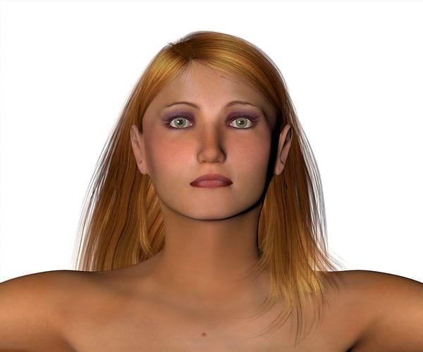 3d carol female character