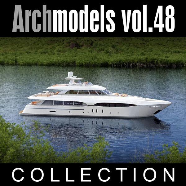 3d archmodels vol 48 yachts