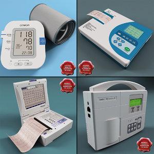 3d model of electrocardiographs ecg machine