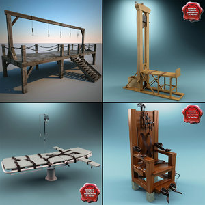 3d model execution equipment guillotine gallows
