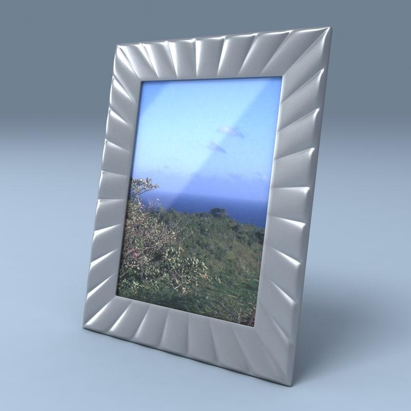 3d model silver frame